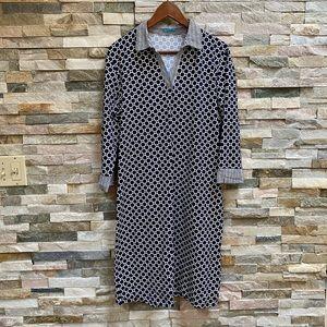 J. Mclaughlin Geometric Shirt Dress Collar Size XL